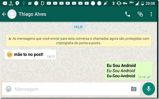 ScreenShot WhatsApp Negrito