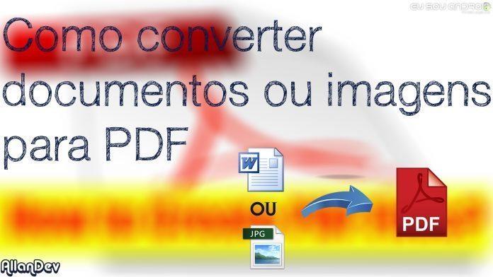 Como converter documentos e imagens em arquivos PDF com o telegram