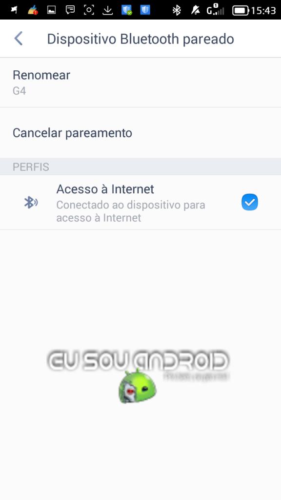 Como compartilhar a internet pelo Bluetooth
