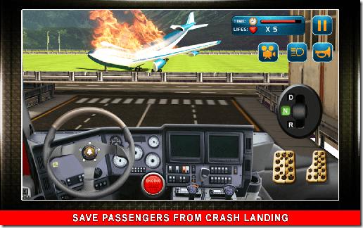 911 Fire Rescue Truck 3D Sim 01