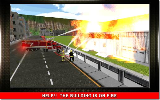 911 Fire Rescue Truck 3D Sim 04