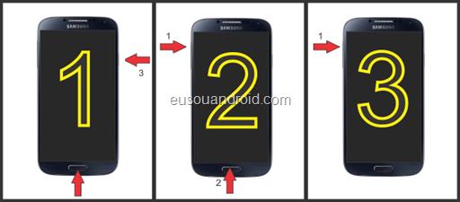 Galaxy S4 acessar ClockWorkMod Team Win Recovery