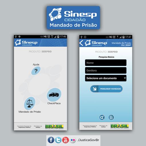 O aplicativo Sinesp Cidadão 1