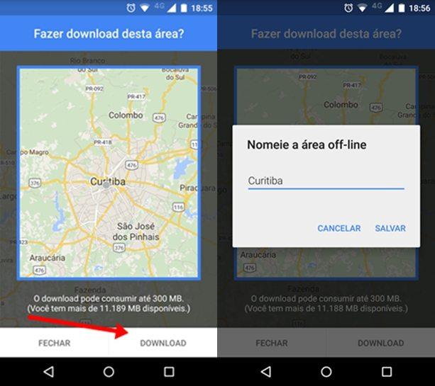 Salvar Mapas no Google Maps 2