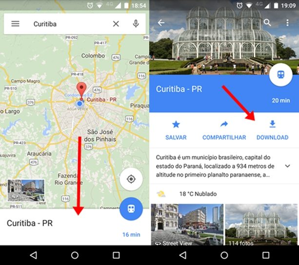 Salvar Mapas no Google Maps