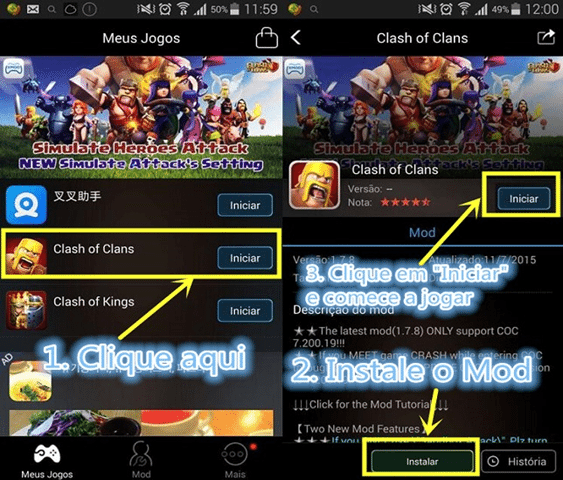 XmodGames Hack para Jogos Online Android 1