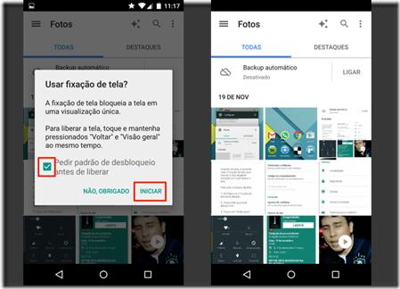 app-fixado-pode-ser-visualizado-sobre-a-tela-de-bloqueio