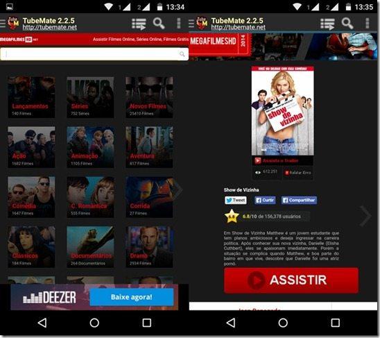 como baixar filmes no celular e tablet Android 2