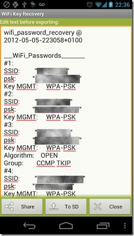 wifi key recovery root